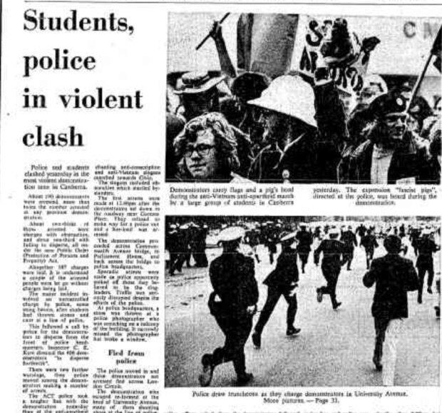 How student protests were covered by the media in 1971