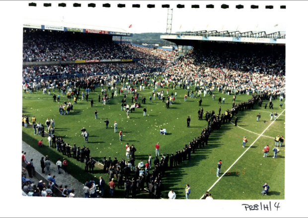 An archival photograph of the Disaster from the records of the SYP.